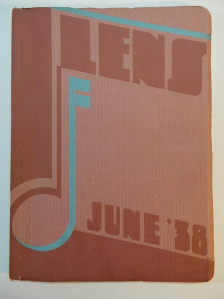 June 1938 WASHINGTON HIGH SCHOOL Portland Oregon Original YEARBOOK Annual Lens