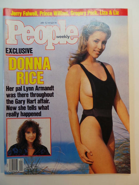 June 15 1987 PEOPLE WEEKLY Magazine DONNA RICE Gregory Peck JERRY FALWELL