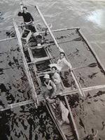 Rare1945 Photo PHILIPPINE ISLAND NATIVES Selling Souvenirs Boat MANILA HARBOR