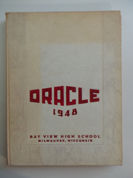 1948 Bay View High School Milwaukee Wisconsin Original YEARBOOK Annual Oracle