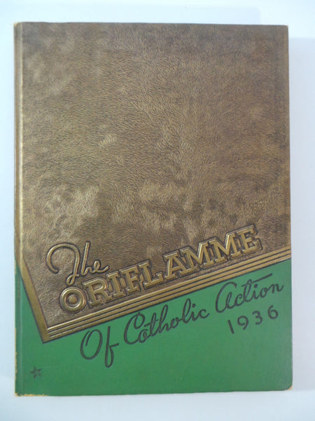 1936 Mount Carmel High School Chicago Illinois Original YEARBOOK Oriflamme