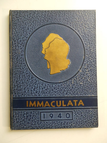 1940 ST. MARY'S HIGH SCHOOL Michigan City Indiana Original YEARBOOK Immaculata
