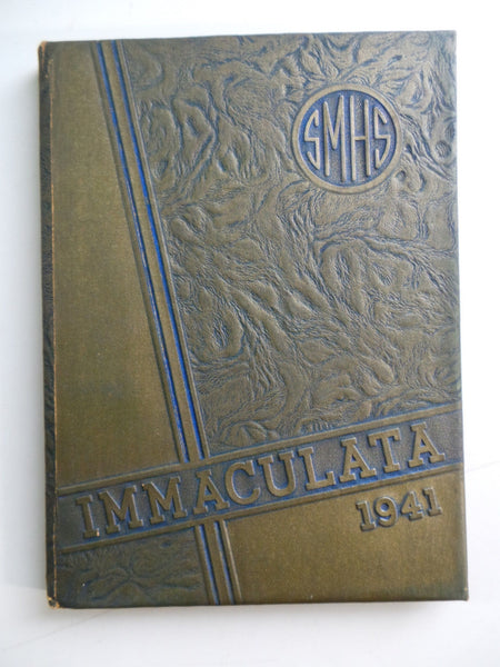 1941 ST. MARY'S HIGH SCHOOL Michigan City Indiana Original YEARBOOK Immaculata