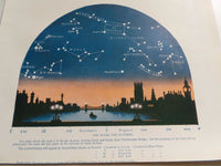 1923 OCTOBER STARS Constellation Astronomy Cityscape Westminster Bridge London