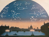 1923 AUGUST STARS Constellations Astronomy Cityscape Westminster Bridge London