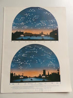 1923 NOVEMBER STARS Constellation Astronomy Cityscape Westminster Bridge London