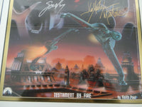 1999 STAR TREK Next Generation SIGNED Poster Testament By Fire GOWRON MARTOK