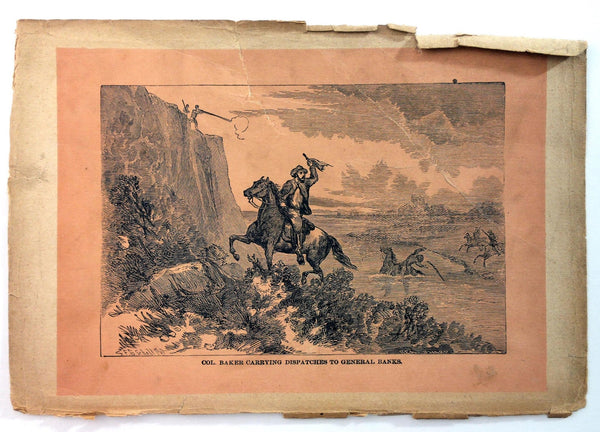1890 SECRET SERVICE Civil War Gen. Col. Baker DISPATCHES To Gen. BANKS Engraving