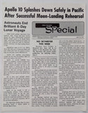 1969 Vintage ROCKWELL SKYWRITER Space Division In-House Newsletter APOLLO 10