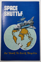 Vintage 1975 SPACE SHUTTLE BROCHURE Large Artist Concept Poster Down To Earth
