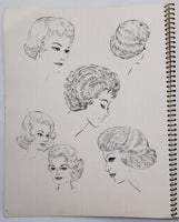 Huge 1962 RETRO HAIR Salon Stylist STYLES Reno's Scientific Method CURLY CUTTING