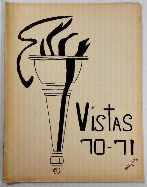 1971 Alamitos Junior High School Garden Grove California Yearbook Annual Vistas