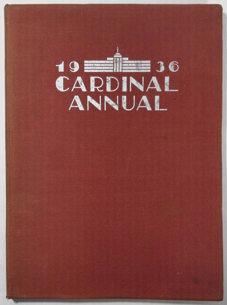 1936 South Division High School Milwaukee Wisconsin Yearbook Annual Cardinal