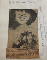 1929 Mrs. Alvin Van Loan Gaines Aileen Wilson News Publicity Society Page Photo