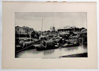 1901 Pawnbroker's Storehouse Canton China Photogravure Photograph