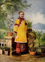 1901 A Noble Chinese Lady Woman China Color Chromolithograph