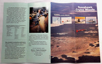 Rare Vintage General Dynamics USN Navy Tomahawk Cruise Missile Fold Out Brochure