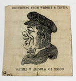 Vintage Antique OPTICAL ILLUSION FACE Old Newspaper WRIGHT & TRUE Leavenworth