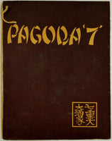 PAGODA 7 Restaurant Vintage Menu Asian Cuisine Location Unknown Mystery