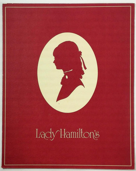 Original Vintage Menu LADY HAMILTON'S Restaurant Mystery Menu Unknown Location