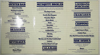 1982 Vintage LAMINATED Dinner Menu ENTERPRISE FISH COMPANY Santa Monica CA