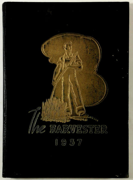 1937 CORCORAN UNION HIGH SCHOOL Corcoran California Yearbook Annual Harvester