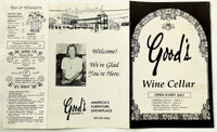 Vintage Original Menu GOOD'S FURNITURE Wine Cellar Restaurant Kewanee IL