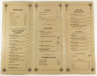 Original HUGE Vintage Laminated Menu MILLWOOD JUNCTION RESTAURANT Mancos CO
