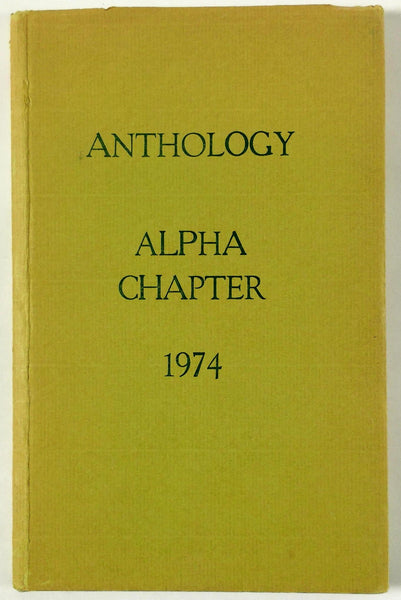 CFCP 1974 ANTHOLOGY Alpha Chapter California Federation CHAPARRAL POETS Poetry