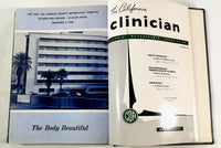 1958 CALIFORNIA CLINICIAN CA Osteopathic Association D.O. Bound Magazine Book