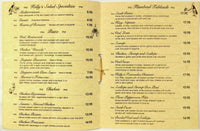 Vintage Dinner Menu KELLY'S FISHERMAN INN Restaurant Hainesport New Jersey