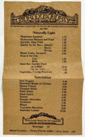 1970's Vintage Unusual Paper Bag Menu GROCERY An Ole RESTAURANT Nacogdoches TX