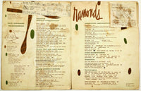 1960's Vintage Full Size Menu RAMONDS RESTAURANT Saginaw Michigan