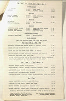 Vintage Full Size Dinner Menu BUSTER'S BAY RESTAURANT Orchard Lake Michigan