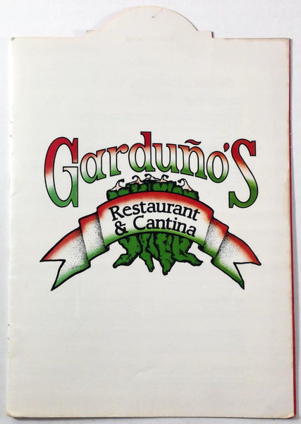 1985 Vintage Menu GARDUNO'S OF MEXICO Restaurant Cantina Albuquerque New Mexico