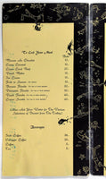 Huge Vtg Menu CORAL REEF SUPPER CLUB Pattaya Beach Thailand Gladys Palmer Jazz