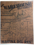 1960's Vtg Original GIANT HUGE Menu THE WAREHOUSE RESTAURANT Marina Del Rey CA