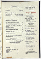 1973 Original Large & Heavy Vintage Menu TIFFIN INN Restaurant Denver Colorado
