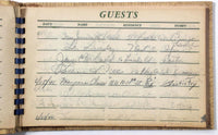 1940's VILLAGE GREEN MOTEL Signed GUEST BOOK Names Address Sylvania Georgia