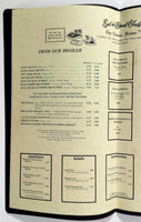 1960's Huge Heavy Vintage Dinner Menu TOWNE HOUSE Restaurant Agate Beach Oregon