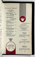 1972 Dinner & Wine List Menu THUNDERBIRD MOTOR INN Jantzen Beach Portland OR