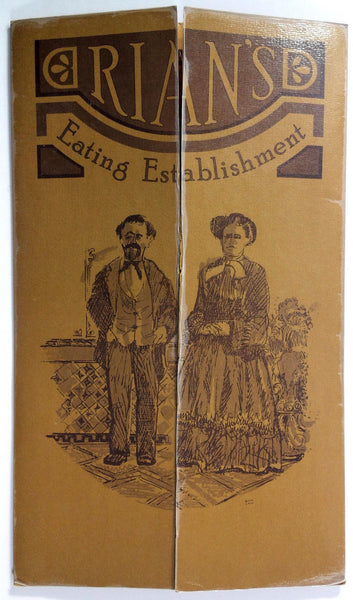 1972 Vintage Dinner & Wine List Menu RIAN'S EATING ESTABLISHMENT Portland OR