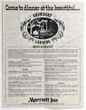 Vintage Brochure Menu SHOWBOAT LANDING Restaurant MARRIOTT INN Columbus Ohio