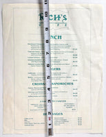 1980's Vintage Breakfast & Lunch Menu RICH'S CAFE Restaurant Key West Florida