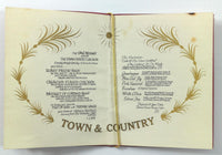 1950's Vintage Lunch Menu PALMER HOUSE HOTEL Hilton TOWN & COUNTRY Chicago IL