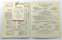 1963 Original Vintage Menu THE WILLARD HOTEL Washington DC Abraham Lincoln Cover