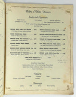 1963 Original Vintage Menu SKY TERRACE Casper Wyoming Airport Restaurant
