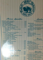 1990's Vintage Menu BUFFALO NICKEL Restaurant Avalon Catalina Island CA Pebbly