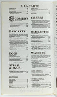 1960's Original Vintage Large Menu THE ATRIUM Restaurant Rockford Illinois