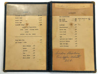 1940's Original Vintage Mystery Menu AUNT JENNIE Restaurant ? New York ?